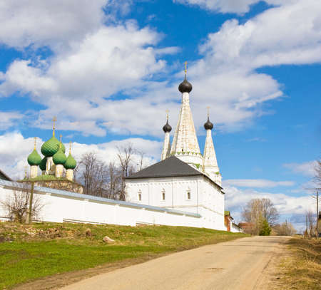 marvellous: Marvellous church in orthodox monastery of St. Alexey in town Uglich in Russia.