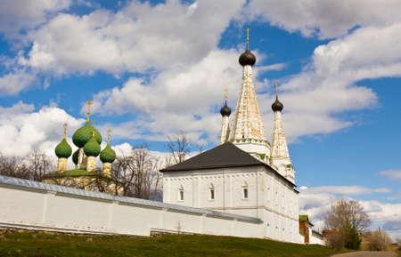 uglich russia: Maverllous Assumption church in Saint Alexey monastery in town Uglich, Russia.
