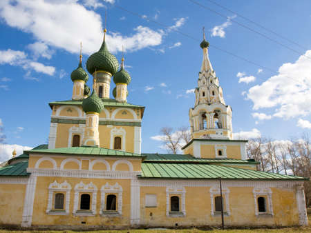 uglich russia: Church of nativity of John the Baptist in town Uglich, Russia. Stock Photo