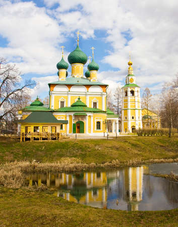Cathedral of Transfiguration of Jesus Christ in town Uglich, Russia. Banco de Imagens