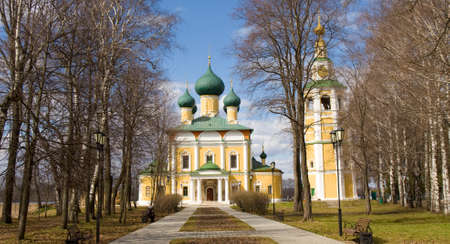 uglich russia: Orthodox cathedral of Transfiguration of Jesus Christ in town Uglich, Russia.