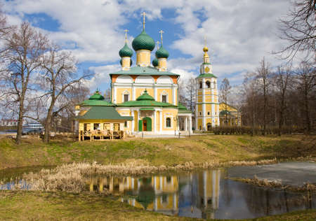 uglich russia: Orthodox cathedral of Transfiguration of Christ in town Uglich in Russia.