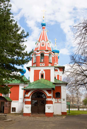 uglich russia: Orthodox church of prince Dmitriy on blood in town Uglich in Russia.