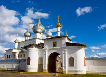 uglich russia: Entrance to Resurrection monastery in town Uglich, Russia.