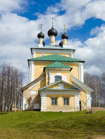 uglich russia: Orthodox church of Resurrection of Jesus Christ and Saint Flor and Laur in town Uglich in Russia.