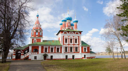 uglich russia: Church of prince Dmitry on blood in town Uglich, Russia.