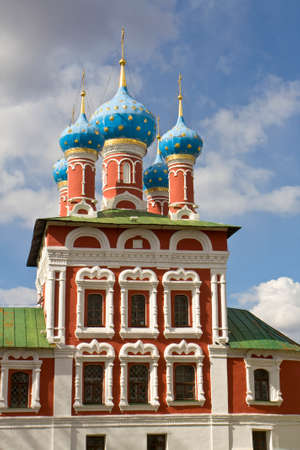 uglich russia: Orthodox church of prince Dmitriy on blood in town Uglich, Russia.