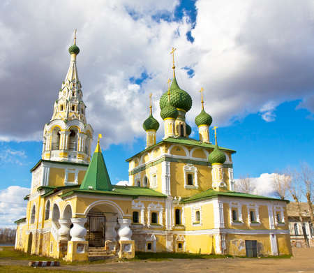 john the baptist: Orthodox church of birth of John the Baptist in town Uglich, Russia.