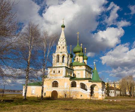 uglich russia: Orthodox church of John the Baptist birth in town Uglich, Russia.