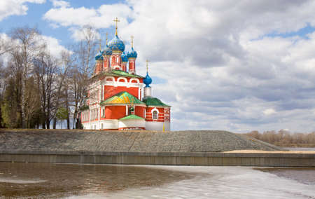 uglich russia: Orthodox church of prince Dmitriy on blood in historical town Uglich, Russia. Stock Photo