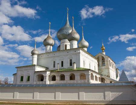 uglich russia: Orthodox Resurrection monastery in town Uglich in Russia.