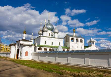 uglich russia: Orthodox Resurrection monastery in town Uglich, Russia. Stock Photo