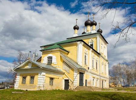 uglich russia: Orthodox church of Resurrection of Jesus Christ in town Uglich, Russia. Stock Photo