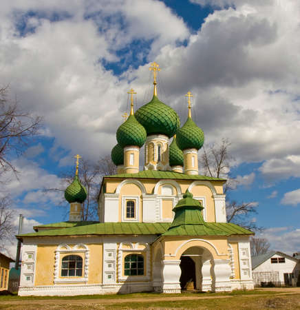 uglich russia: Cathedral of John the Baptist in Saint Alexey monastery in town Uglich, Russia.