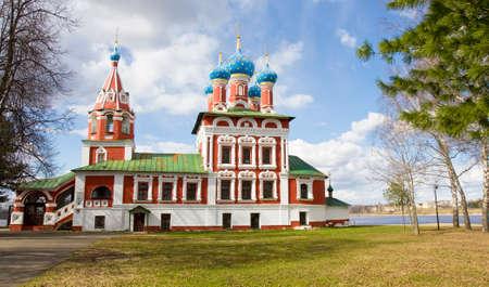 uglich russia: Orthodox church of prince Dmitriy on blood in town Uglich, Russia.