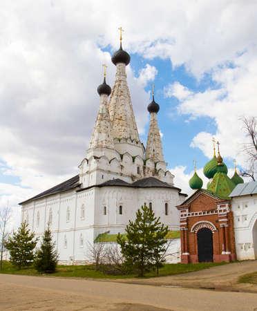 Maverllous church in Saint Alexey monastery in town Uglich, Russia.