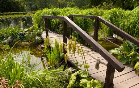 recorded: Bridge on pond, recorded in rosarium in park Sokolniki, Moscow.