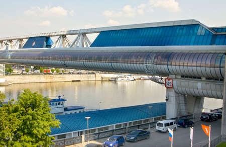 place of interest: MOSCOW - MAY 23, 2011: Bagrationovsky bridge, has been built in 1997 year.