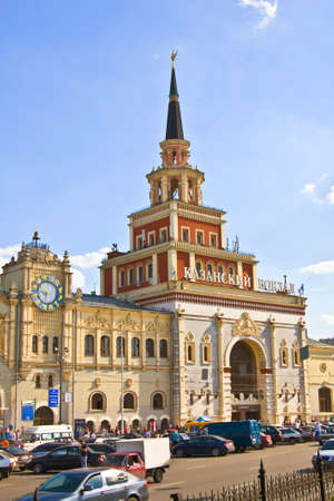 kazansky: MOSCOW - JUNE 21 2010: Kazansky railway station on Komsomolskaya square, has been built in 1940. Editorial
