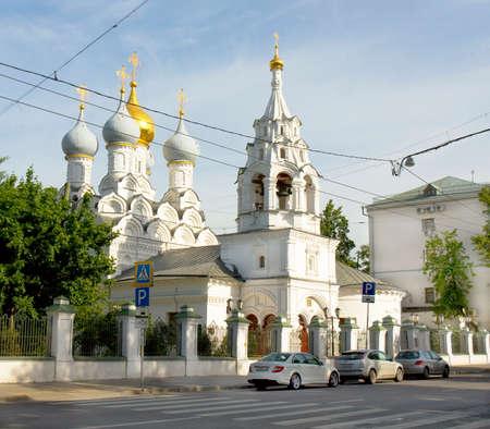 saint nicolas: MOSCOW - MAY 19, 2014: church of Saint Nicolas on Big Ordynka street, has been built from 1647 year. Editorial
