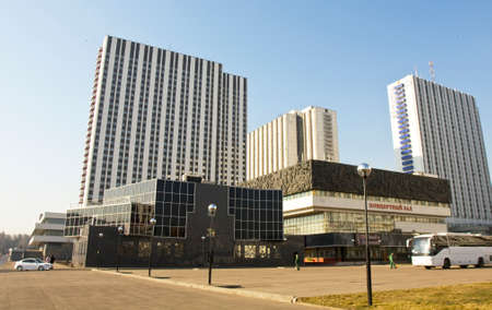 has been: MOSCOW - MARCH 25, 2014: hotel Izmaylovo, has been built in 1980.