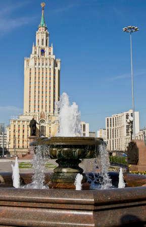 leningradskaya: MOSCOW - JUNE 23, 2010: hotel Leningradskaya Hilton on Komsomolskaya square, has been built in 1954.