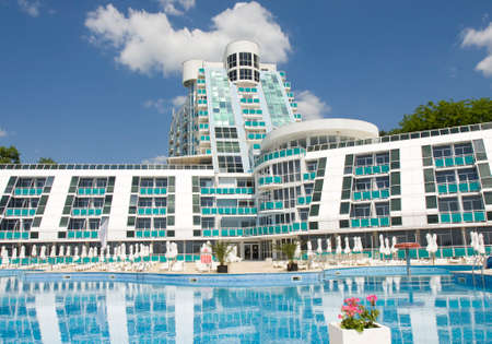 helen: SAINTS CONSTANTINE AND HELEN, BULGARIA - MAY 30, 2015: hotel Roubin, part of complex of Grand Hotel Varna.