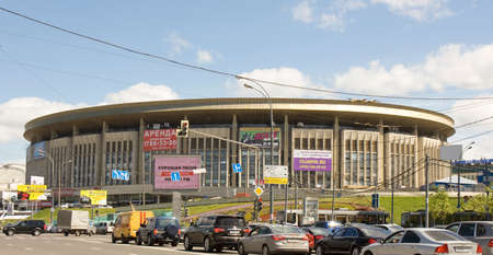 MOSCOW - JUNE 21, 2013: stadium Olimpiysky on prospectus of Peace, has been built in 1980 year. Editorial