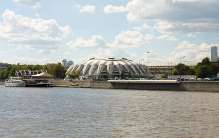 sport hall: MOSCOW - JUNE 10, 2013: Universal sport hall Friendship, has been built in 1980 to Moscow Olimpic games.