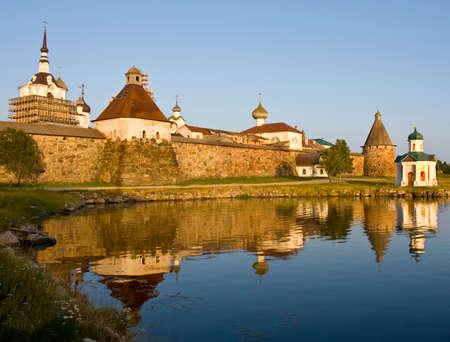 archipelago: Transfiguration of Jesus Christ Savior Solovetskiy monastery on Solovki islands (Solovetskiy archipelago) in White sea, Russia,