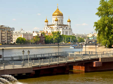 saviour: MOSCOW, RUSSIA - MAY 23, 2014: cathedral of Jesus Christ Saviour, has been built in 1860, reconstructed in 1997.