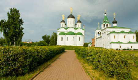 intercession: Cathedral of Transfiguration of Jesus Christ and Intercession cathedral of Transfiguration of Jesus Christ monastery in town Murom, Russia.