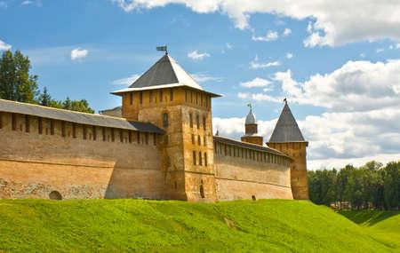 place of interest: Fortress Novgorodsky Kremlin in town Great Novgorod, Russia.