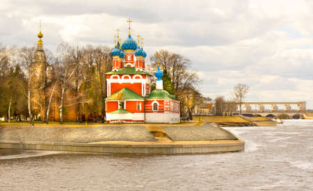 uglich russia: Church of prince Dmitry on blood in town Uglich, Russia