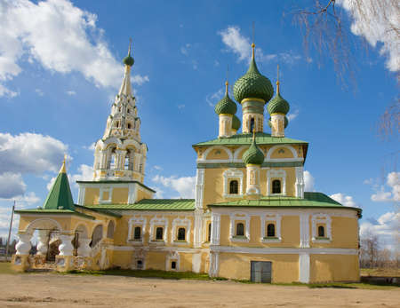 uglich russia: Orthodox church of birth of John the Baptist in town Uglich, Russia.