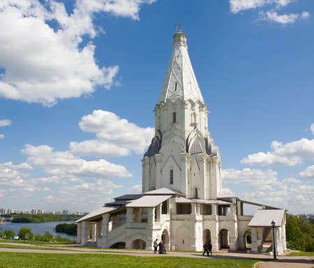 MOSCOW - MAY 14, 2014: church of Ascension of Jesus Christ in mansion of Russian kings Kolomenskoye, built in 1532 year.