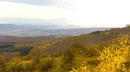 balkan: Landscape, Balkan hills Stara Planina hills in Bulgaria in autumn