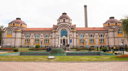 SOFIA, BULGARIA - OCTOBER 09, 2017: Mineral bath, build in 1906