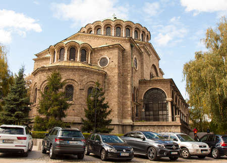 SOFIA, BULGARIA - OCTOBER 09, 2017: Saint Nedelya cathedral, build in 1856-1867 year. Editorial
