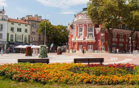 VARNA, BULGARIA - AUGUST 14, 2015: Opera theatre, works from 1947 year Editorial