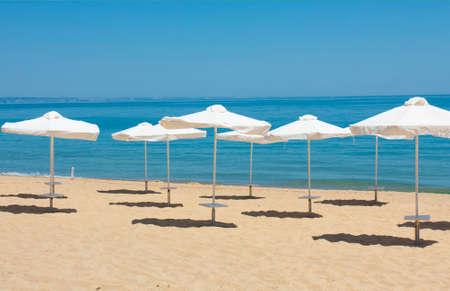 Beach on Golden Sands resort, Golden Sands, Varna, Bulgaria. Reklamní fotografie
