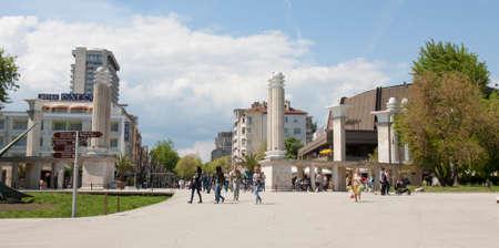 Entrance to Primorsky park in town Varna, Bulgaria