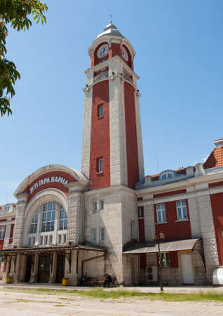 Railway station in town Varna, Bulgaria Editorial