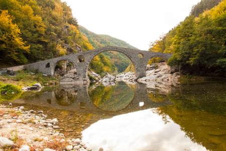 Devil bridge, bridge 16th century in Rhodope hills, Rhodope, Bulgaria