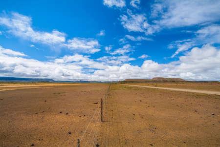 Drought. Semi desert of the Northern Cape Stock Photo
