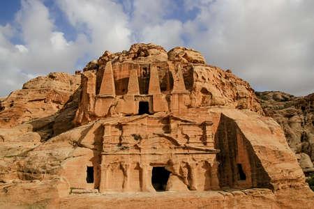The Obelisk Tomb and Bab as Siq Triclinium at the ancient Nabataean city of Petra, Jordan