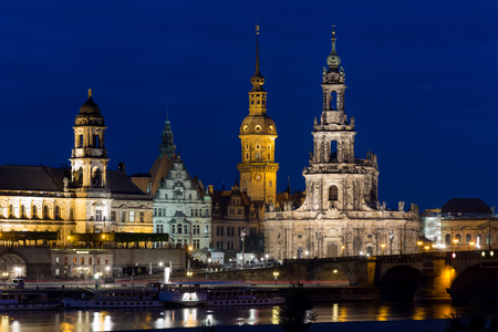 Dresden by night