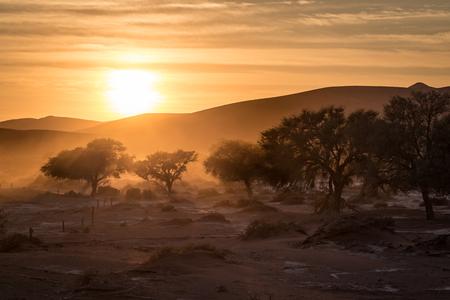 Sunrise at Sossusvlei in Namibia