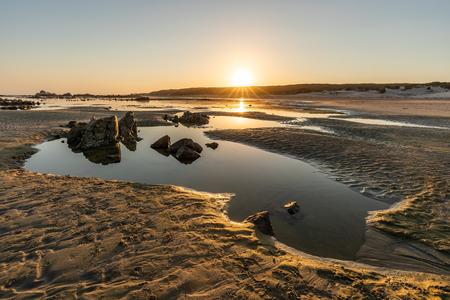 Tide pool on the beach near Port Elizabeth Stockfoto