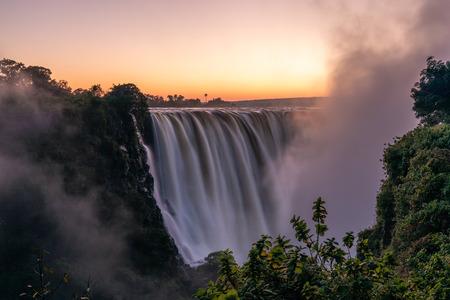 Dawn at the Victoria Falls Stockfoto
